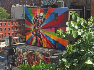 New art engendered by High Line