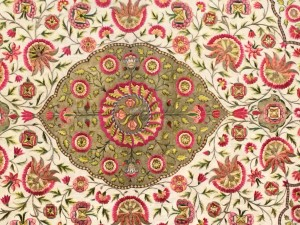 Eternal Garden Dais or Floor Cover; 1700's; India (Decca)