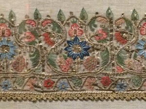 Embroidered towel and cover from 1800's; Turkey