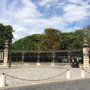 Entrance fence to Jardin du Luxembourg); Paris; 7/19/15