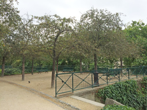 La Promenade Planteé adjacent garden (Jardin de Reuilly) with  a small bois
