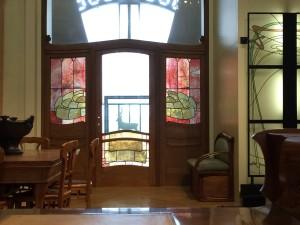 Art Nouveau stained glass panels; Museé d'Orsay; Paris' 7/23/15