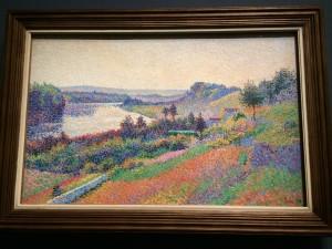 Maximilien Luce, La Seine à  Herblay; Museé d'Orsay; Paris; 7/23/15