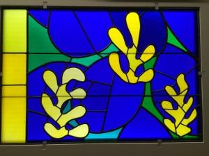Small piece of Matisse design for windows at Chapelle du Rosaire (Couvent des Dominicaines) in Vence; Palais de Chaillot; 7/22/15