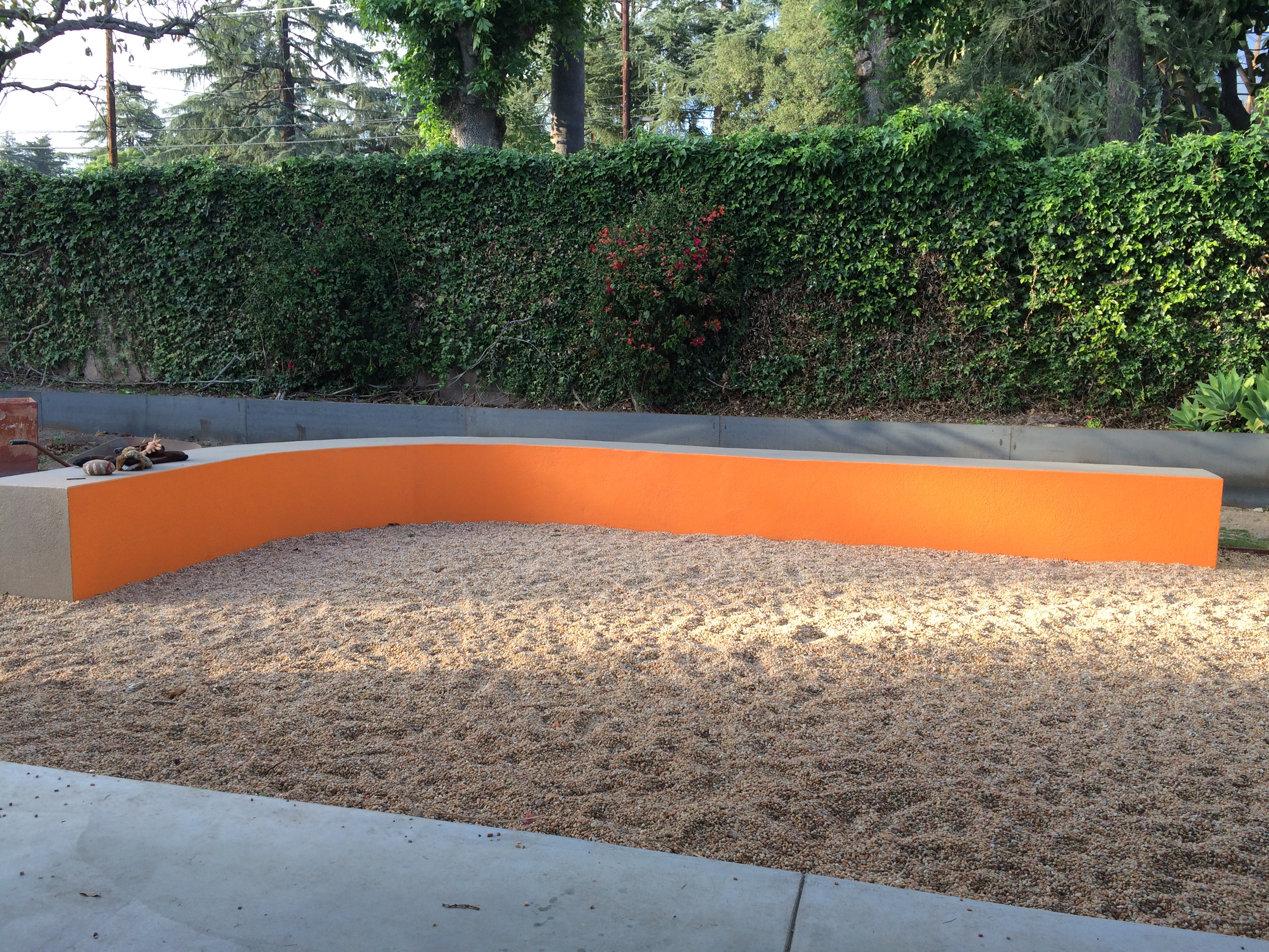 Orange Cement Wall : Color in cleveland year round bobbie s green thumb