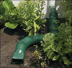 Flexible downspout diverter