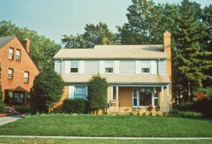 Front yard before redesign; October 1986