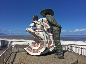 Sense of place - Mexican dancers sculpture on Malecon